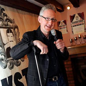 Former Liberal Democrat MP Lembit Opik at The Backstage Comedy Club, London