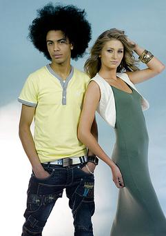 The 2010 Faces of DV8; Helder Afonso (23) and Carys Magill (17) in a picture taken at their first fashion shoot for hip retailer DV8