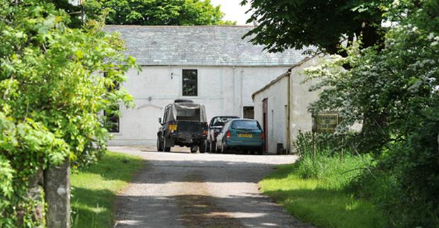 The driveway to the home of solicitor Kevin Commons. Photo: PA