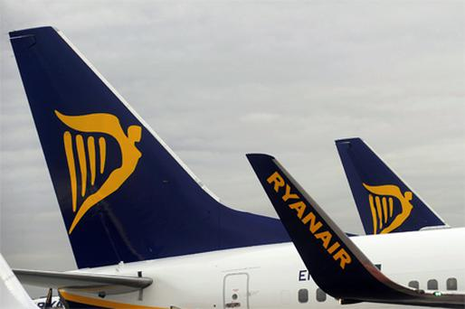 Ryanair closed up 2.7pc at €3.64. Photo: Bloomberg News