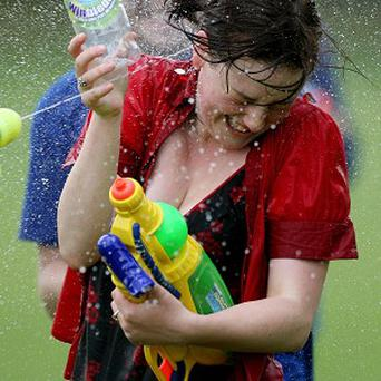 Three arrested after massive water fight in London