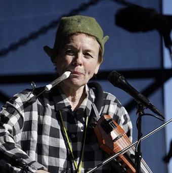 Laurie Anderson composed a 20-minute work to create a shared experience for dogs and their owners (AP Photo)