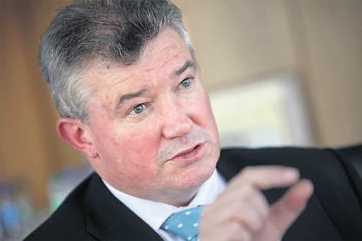 Chief executive Richie Boucher had loans with the bank totalling almost €1m