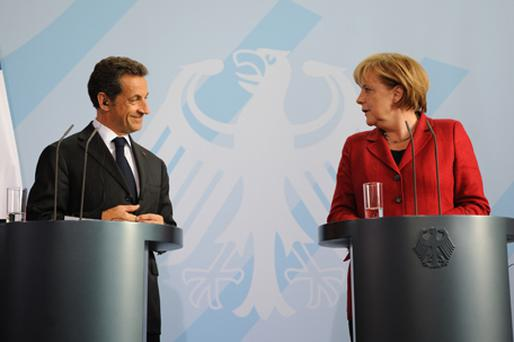 French President Nicolas Sarkozy and German Chancellor Angela Merkel. Photo: Getty Images