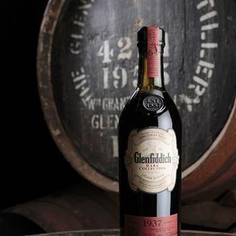 A bottle of Glenfiddich has sold for more than £25,000
