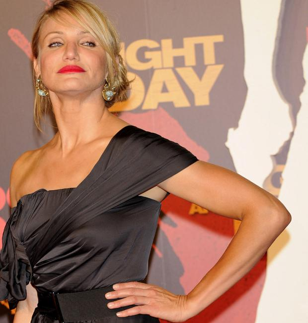 Cameron Diaz is happy to step out alone. Photo: Getty Images