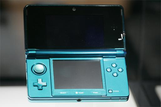 Nintendo's 3DS handheld video-game console was on display at E3. Photo: Bloomberg News