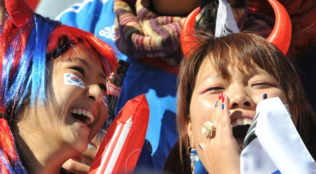 South Korean fans before the match. Photo: Getty Images