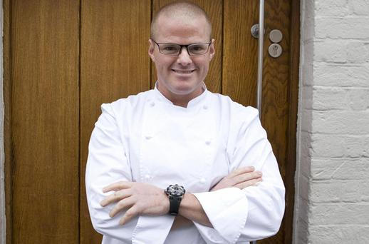 Heston Blumenthal is pictured at the entrance to his restaurant the Fat Duck in Berkshire. Photo: Getty Images