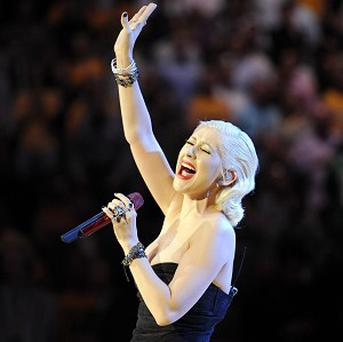 Christina Aguilera sang the national anthem before the finals
