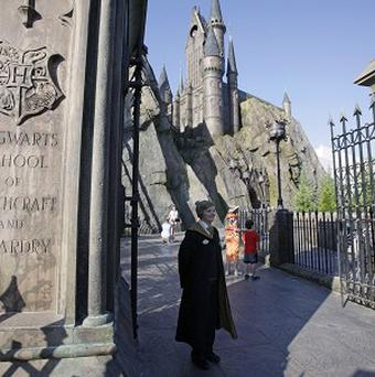 Hogwarts Castle stands proudly over the new theme park