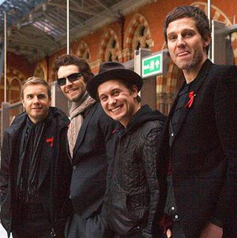 Take That won an award for most played artists