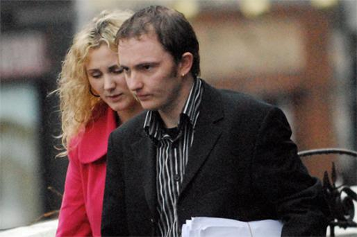 Paul Gilmore and his partner leaving Donegal Circuit Court during the trial