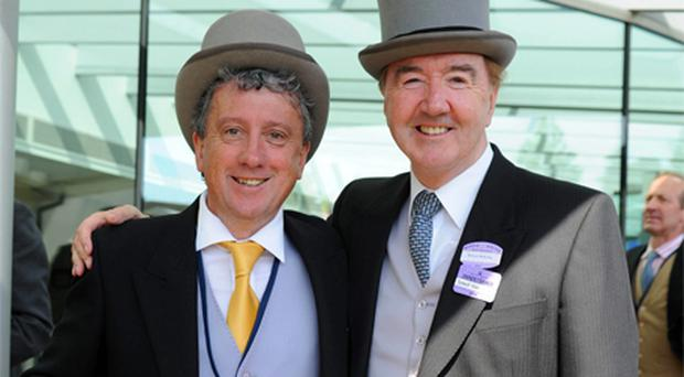 'I taught him everything he knows' - yours truly with Dermot Weld at Royal Ascot