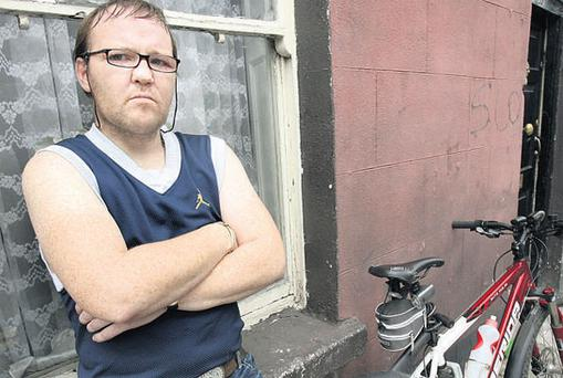 OFF THE ROAD: John Cully, from Dublin, plans to appeal against the one-year driving ban he received after he was convicted of breaking a red light on his bicycle in the capital. Photo: Tony Gavin