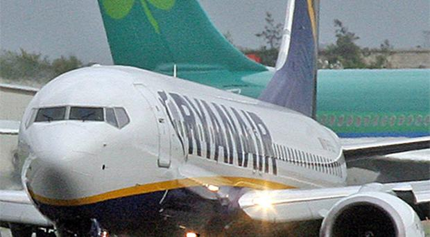 Air passenger traffic between the UK and Ireland fell in May. Photo: PA