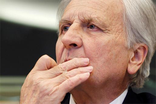 Jean-Claude Trichet: the European Central Bank Chairman in Brussels yesterday