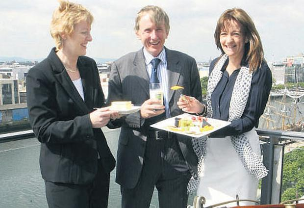 TESTING: (from left) National Dairy Council CEO Helen Brophy, Associate Professor of public health at UCD Professor Patrick Wall, and FSAI's chief specialist in public health nutrition Dr Mary Flynn test out the goods on offer at the NDC conference, which took place in Dublin.