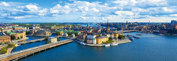 Stockholm's water-laced skyline.