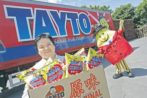 Businessman Wei Quoinhas is launching Tayto crisps in 1,200 outlets in Shanghai, China