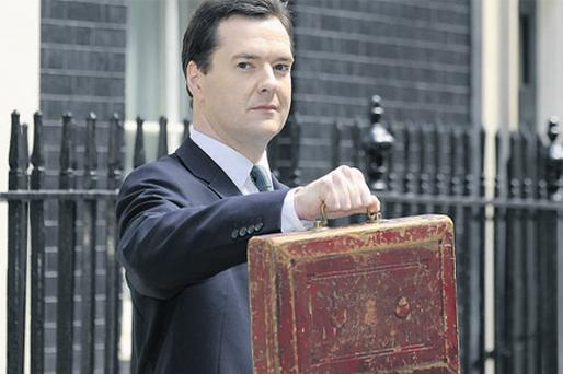 Treasury chief George Osborne after announcing the budget
