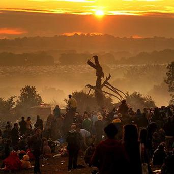 More than 60,000 music fans are estimated to arrive at Worthy Farm in Somerset