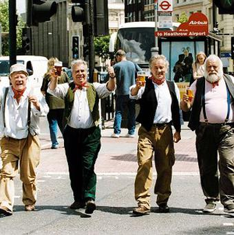 The Wurzels protested against the tax cut on cider
