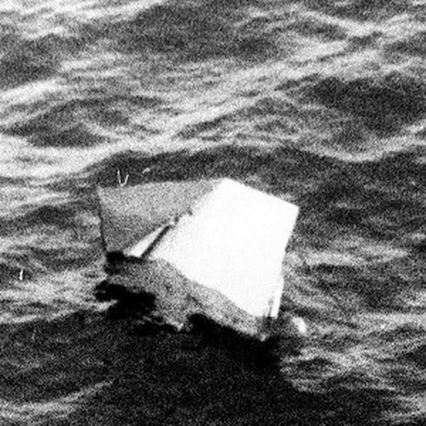 The wreckage from Flight 182 which was located around 120 miles off the coast of Cork