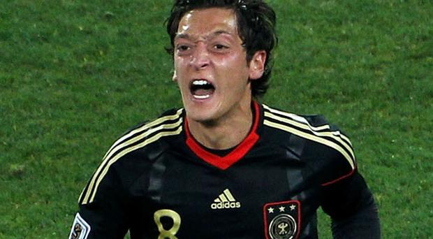 Mesut Ozil scored Germany's winner last night. Photo: Getty Images