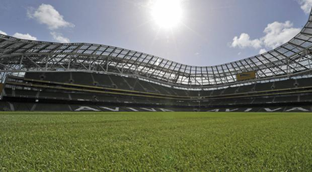 A general view of the new Aviva Stadium. Photo: Brian Lawless Sportsfile