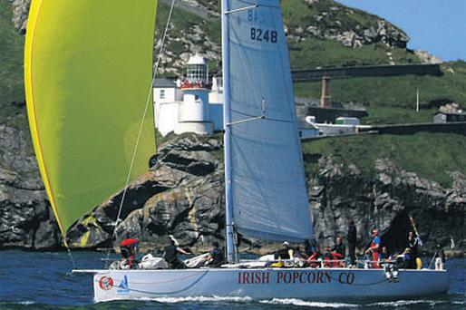'Pride of Wicklow' makes it way past Wicklow Head during the Round Ireland yacht race