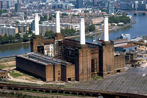 The Battersea power station site in London