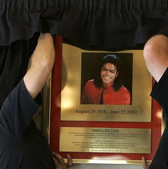 A Michael Jackson memorial has been unveiled