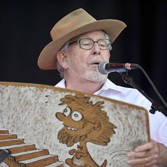 Rolf Harris opened Glastonbury performing with his wobble board