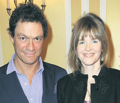 Dominic West with his fiancee Catherine FitzGerald