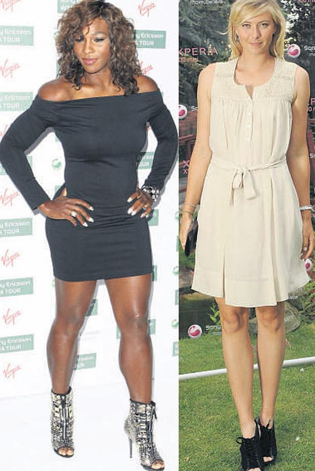 Serena Williams and Maria Sharapova dazzle at the party.