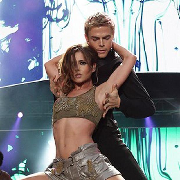 Cheryl Cole and Derek Hough on Dancing With The Stars