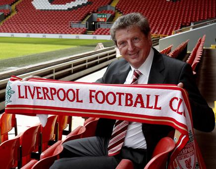 New Liverpool manager Roy Hodgson poses for photographs during a press conference at Anfield Stadium, Liverpool. Photo: PA