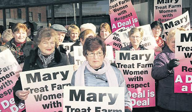 Farm pensioners took to the streets earlier this year when the Government tried to axe their pensions. Now surviving spouses of participants in the Early Retirement Scheme are also facing cuts
