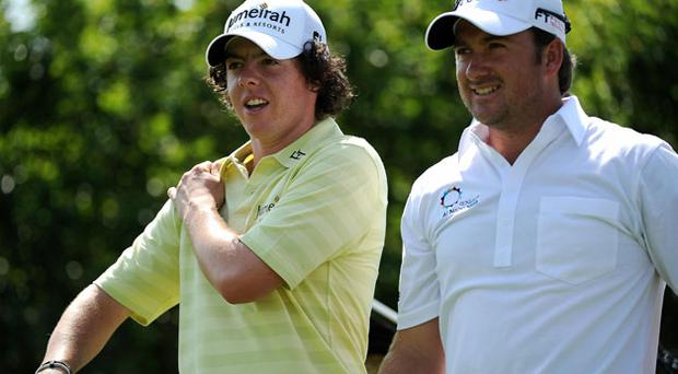 Ryder Cup hopes: Rory McIlroy and Graeme McDowell. Photo: Getty Images