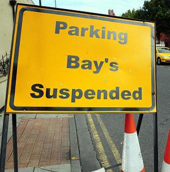 Road sign with a 'bewildering' apostrophe in Hartlepool town centre