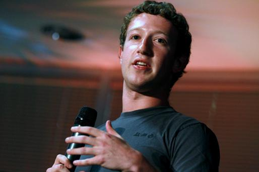 Facebook founder and CEO Mark Zuckerberg announces the launch of Facebook Places. Photo: Getty Images