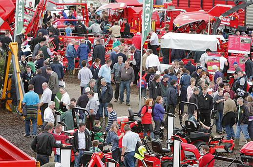 Crowds on day two of the National Ploughing Championships at Cardenton Near Athy. Photo: Frank McGrath