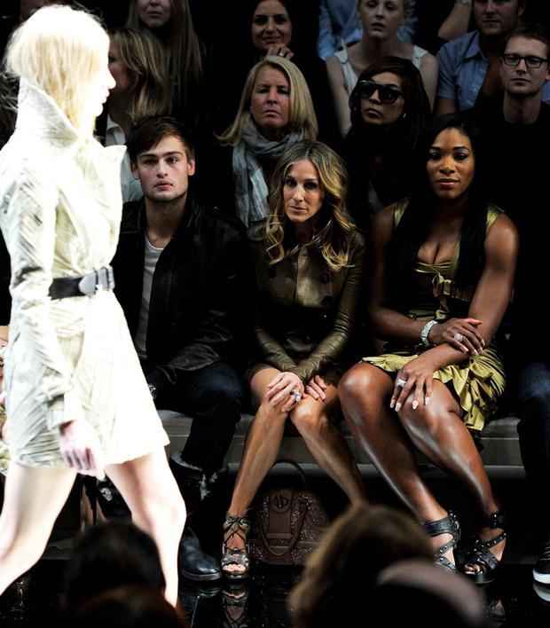 Sarah Jessica Parker and Serena Williams front row at Burberry Prorsum Spring/Summer 2011 fashion show