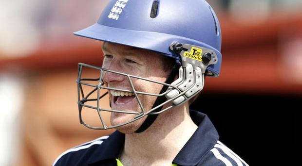Eoin Morgan has plenty of reason to smile after being included in England's squad for the Ashes trip to Australia. Photo: PA