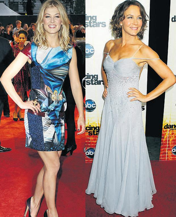 From left: Jennifer Grey and Rosamund Pike