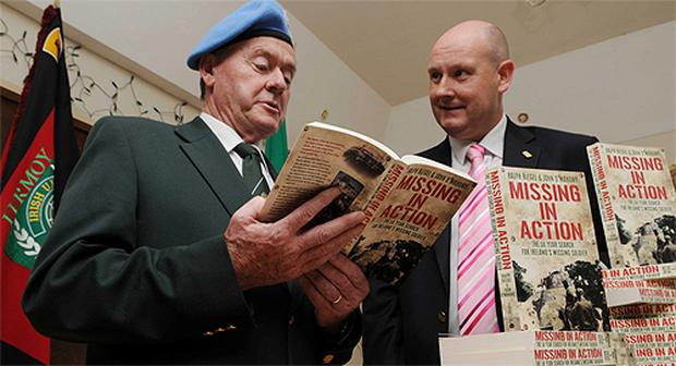Joint authors of 'Missing in Action', John O'Mahony and Ralph Riegel, at the book launch in Fermoy, Co Cork, last night