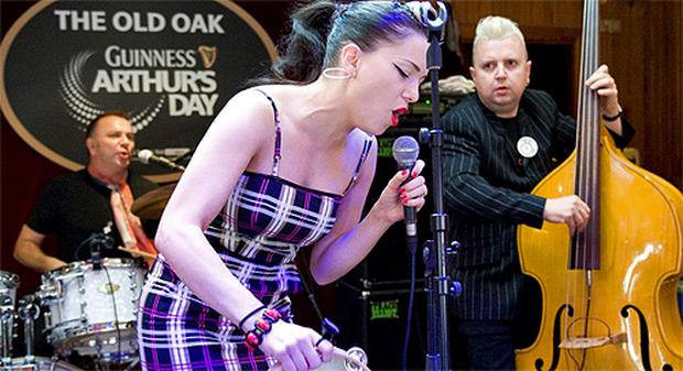 Imelda May performs at the Old Oak in Cork