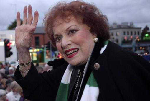 Maureen O'Hara at the launch of the Ranelagh Arts Festival in Dublin. Photo: Collins