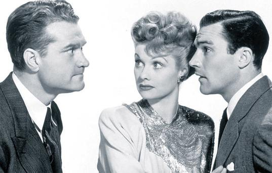Winning ticket: Red Skelton, Lucille Ball and Gene Kelly star in the Sweeps-themed movie Du Barry Was A Lady.